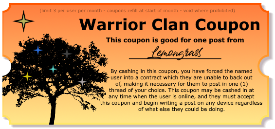 Warrior Clan Coupons - Make your friends post! Postcoupon_lemon