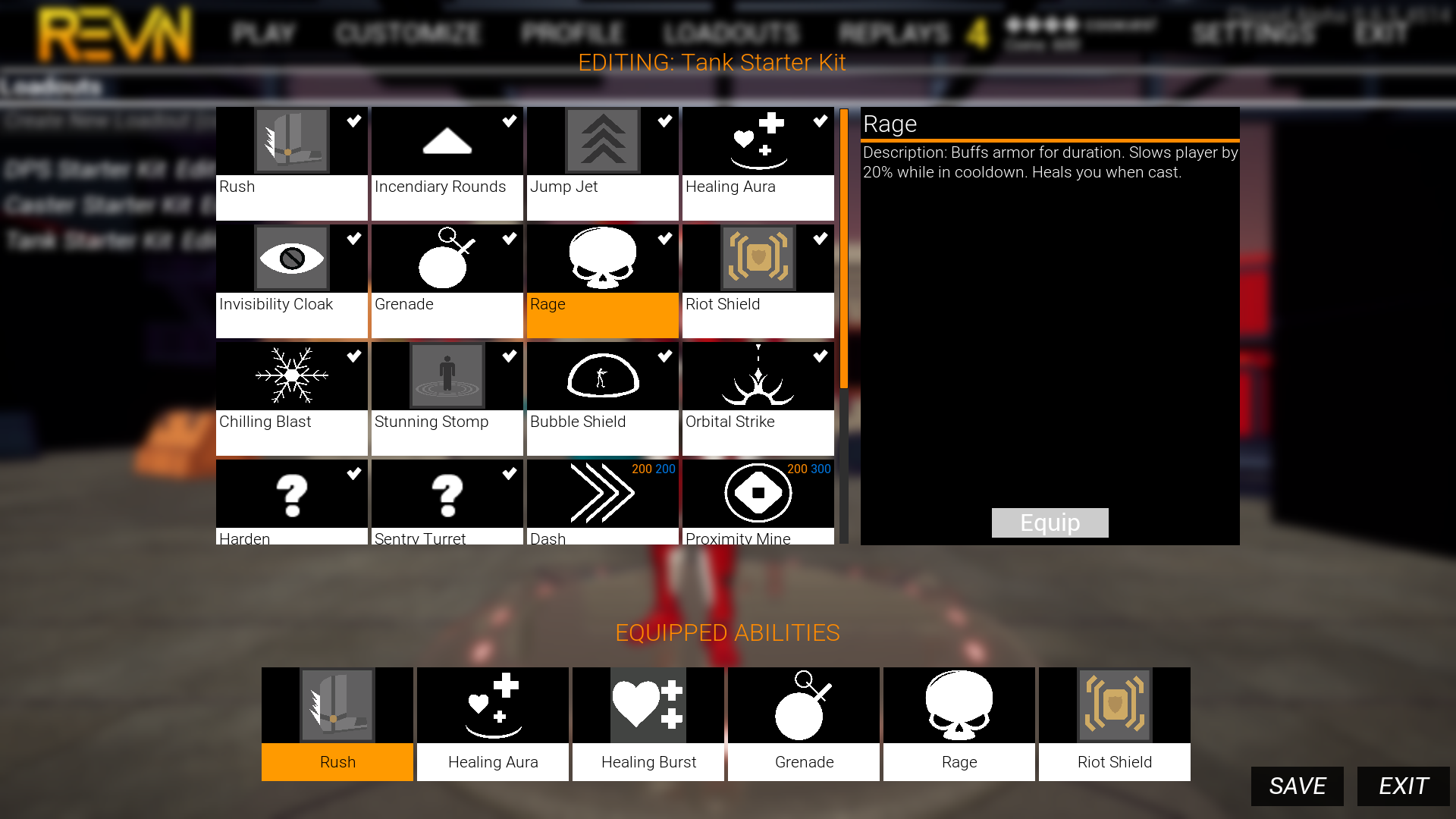 The ability store UI