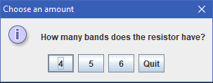 Number of Bands Input
