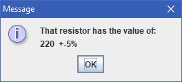 Resistor Value Output