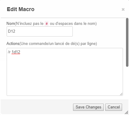 TUTO : Macros Roll20 Unknown