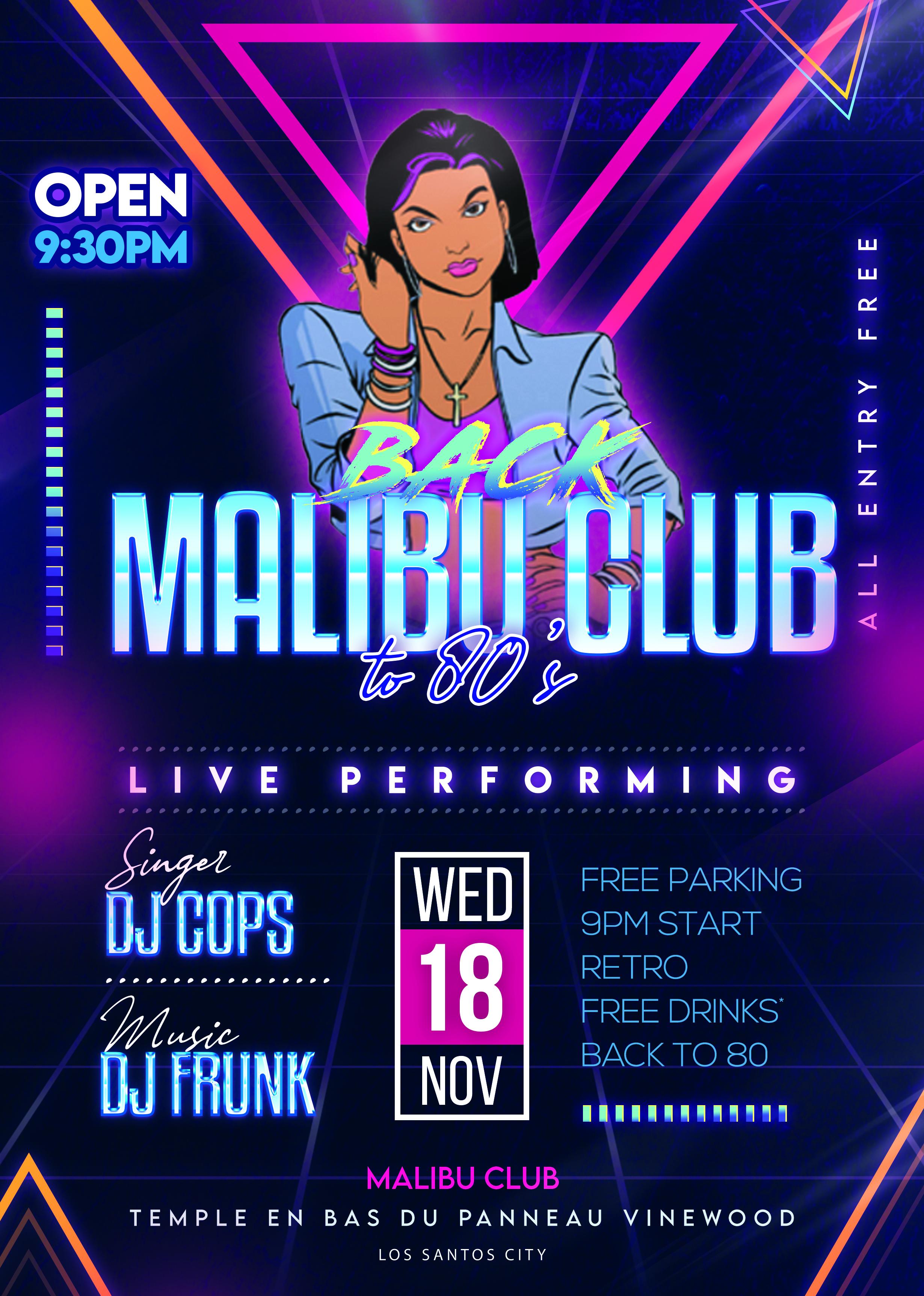 (EVENT) Malibu Club Retro_Party_Flyer_PSD_Template