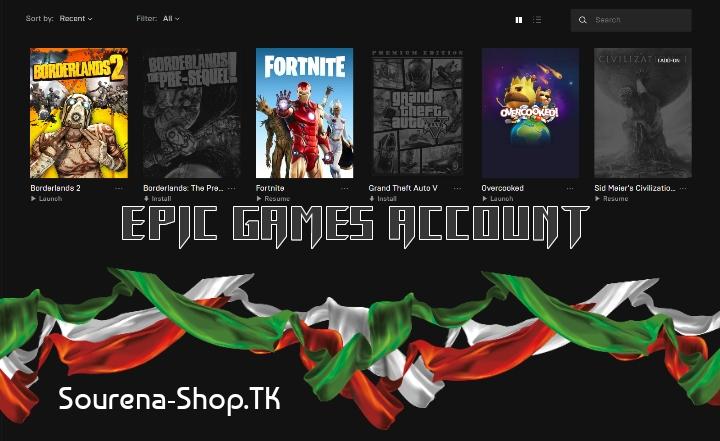 اکانت اپیک گیمز(دارای GTA V و چند بازی دیگر)