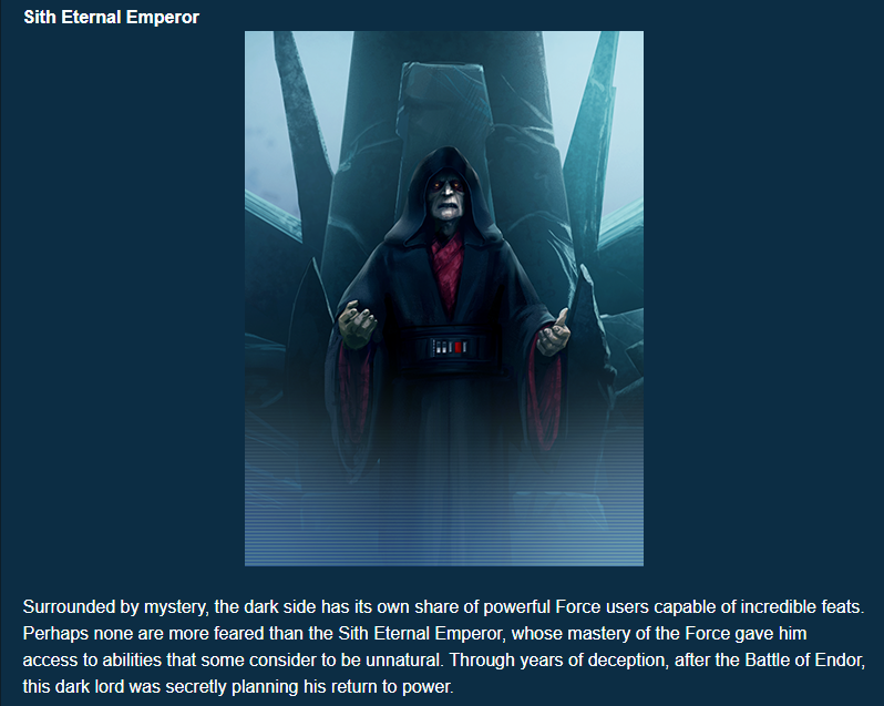 The Sith Emperor and The Eternal Emperor vs. The Sith Eternal Emperor Unknown