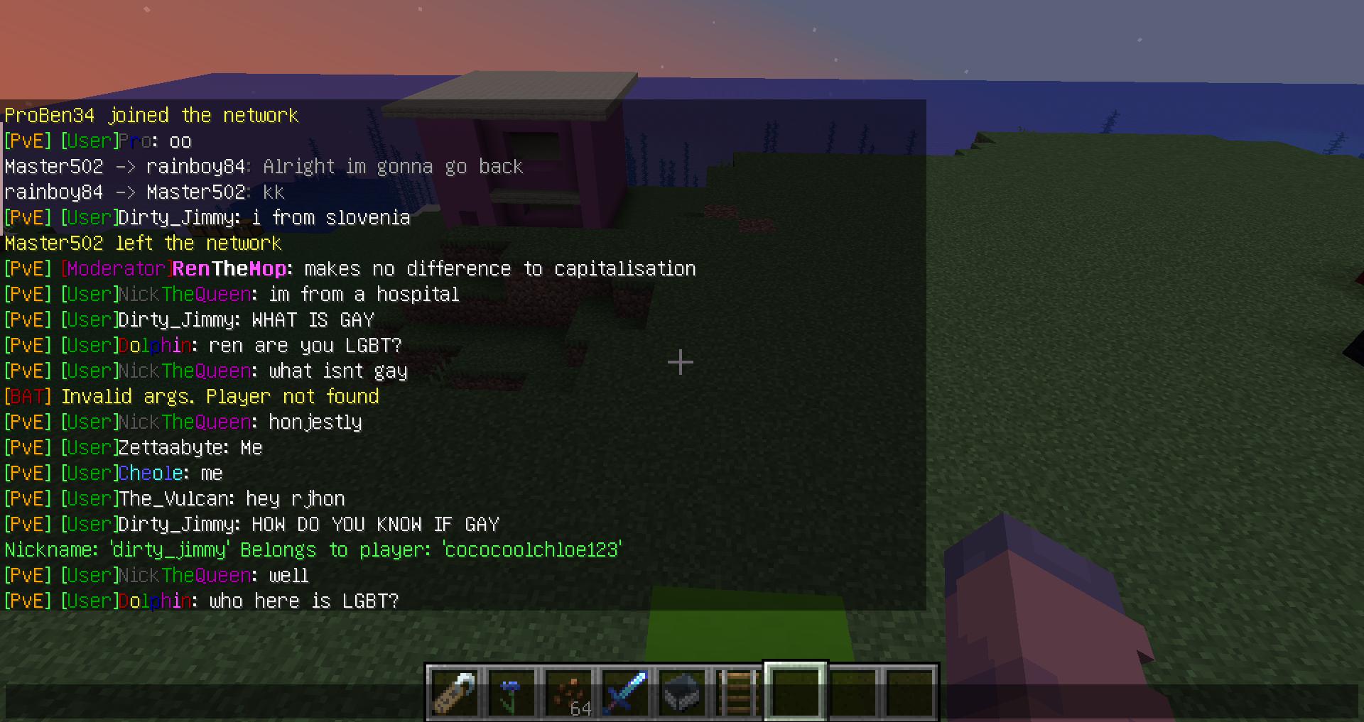 screenshot of chat