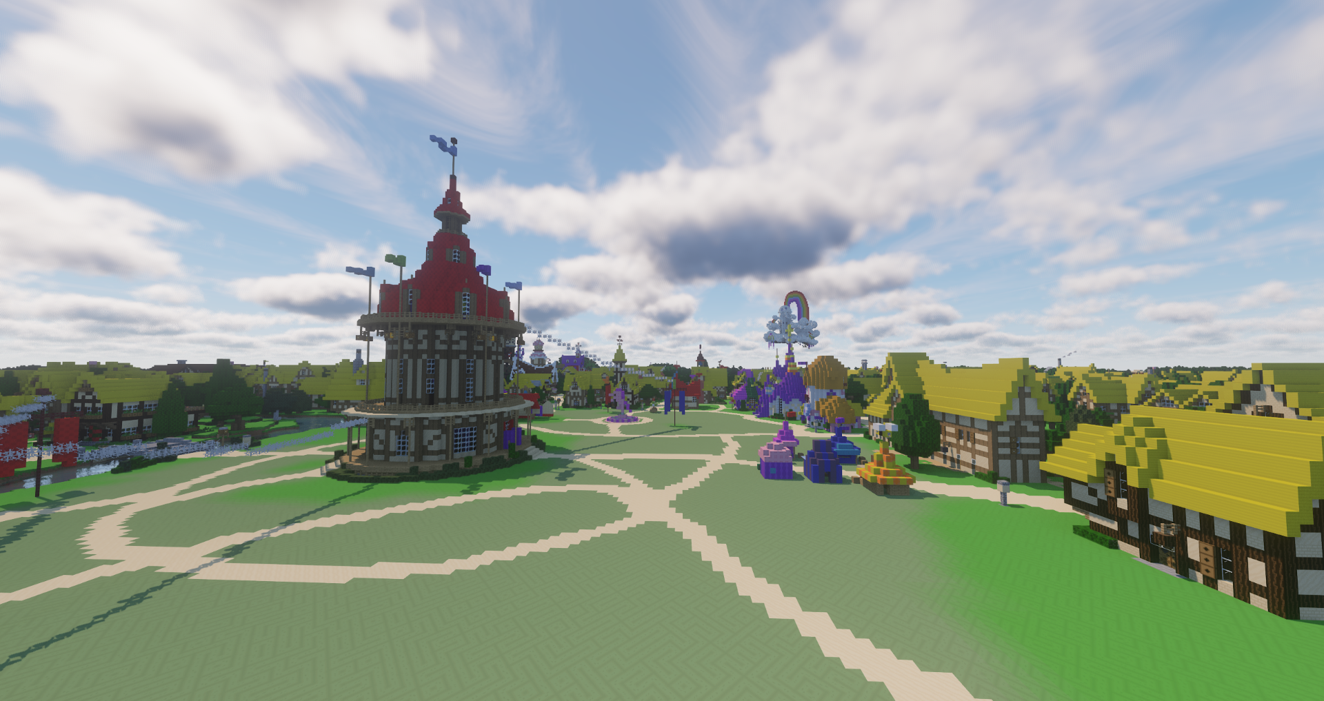 A recreation of Ponyville on the Brohoof server