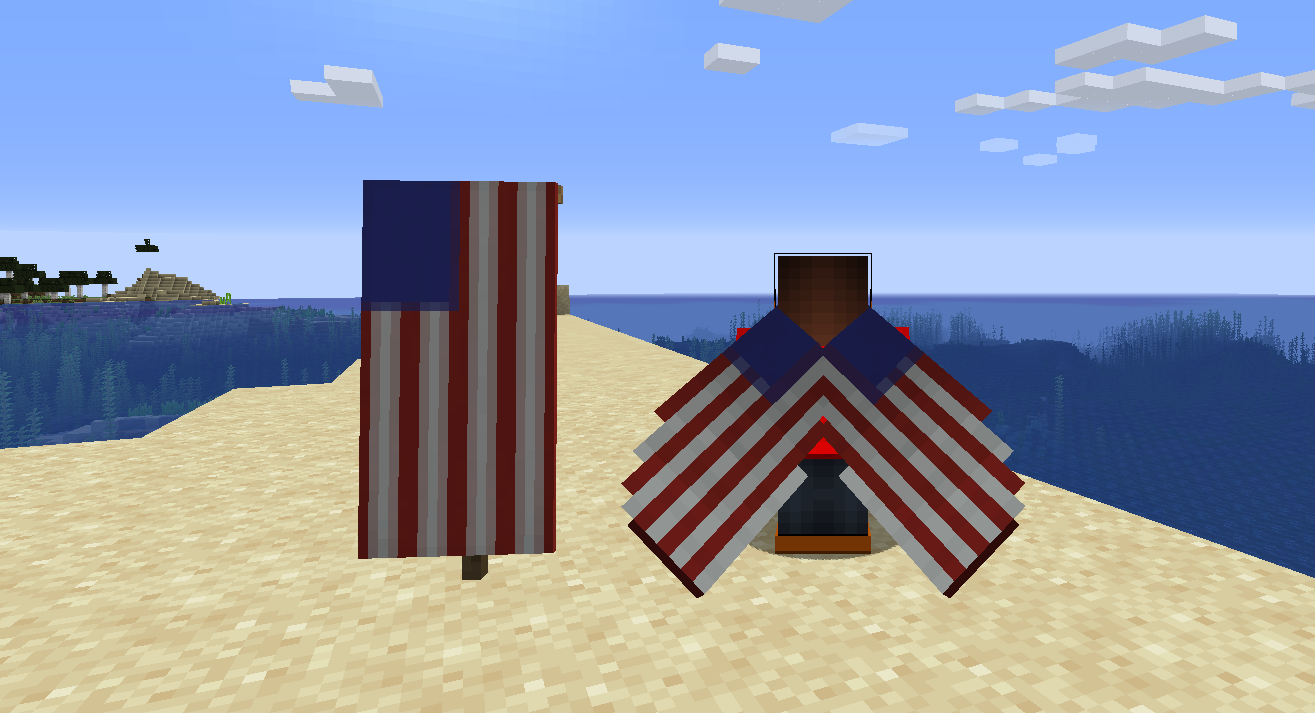 American flag banner and matching elytra
