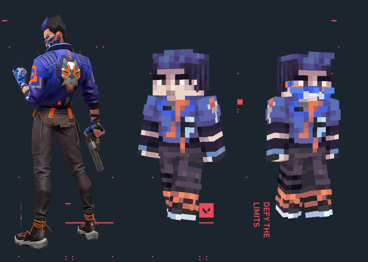 Yoru ∣ VALORANT ∣ Masked version in the description Minecraft Skin