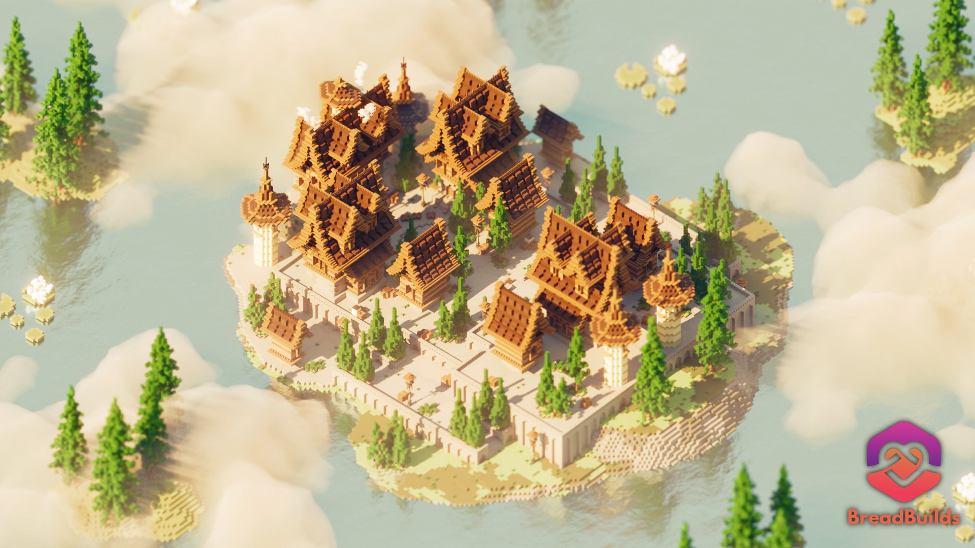 Medieval Server Hub ❯ Brown Spawn Minecraft Map