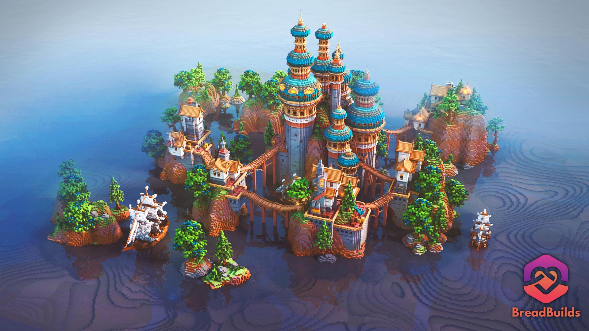 Blue Palace ❯ Lobby ❯ 500x500 Minecraft Map