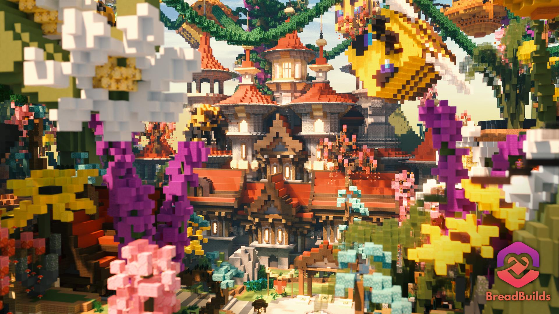 Bee Island ❯ Hub ❯ 250x200 Minecraft Map