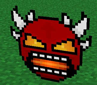 Geometry dash extreme demon face Minecraft Mob Skin