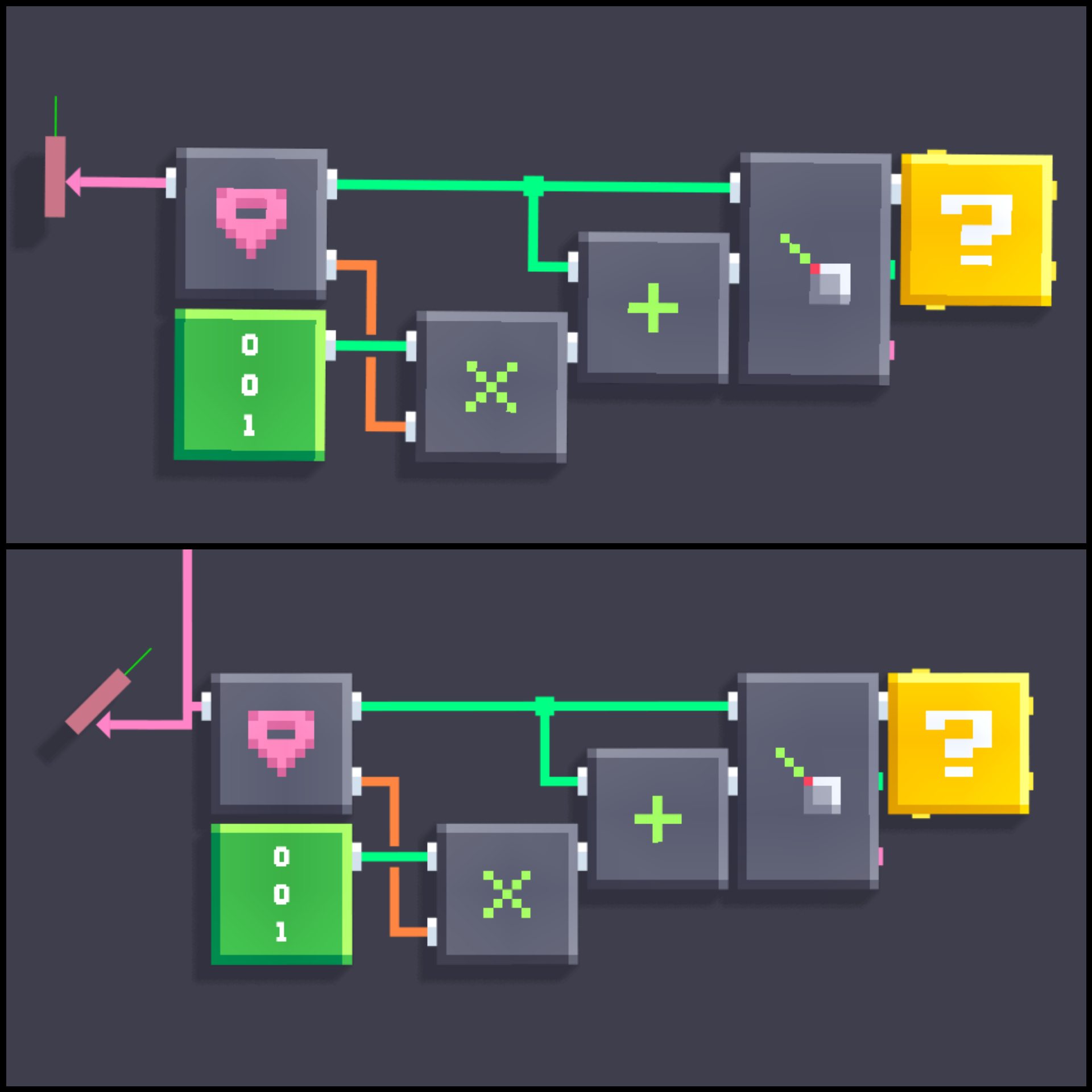 Raycast in same direction as block