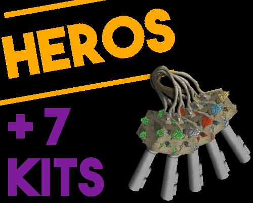 Image d'illustration de l'article Pack HÉROS, 7 kits, 5 clefs