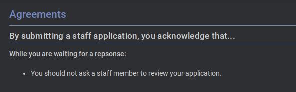 [DENIED] Staff Application Unknown