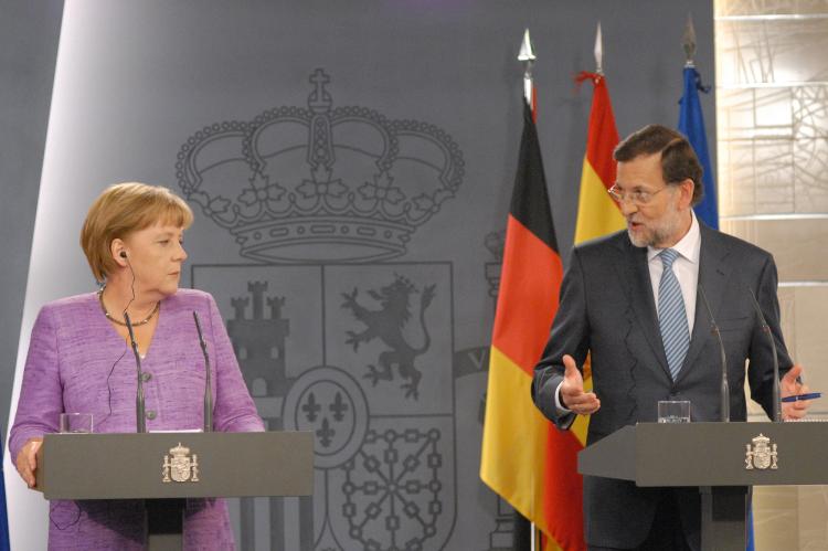 [Gobierno] Rueda de Prensa conjunta de Mariano Rajoy y Angela Merkel, tras la cumbre bilateral entre España y Alemania Unknown