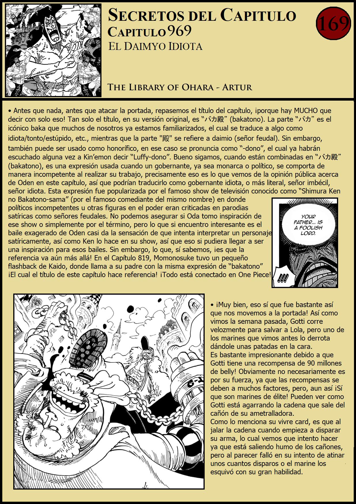 Secretos & Curiosidades - One Piece Manga 969 01
