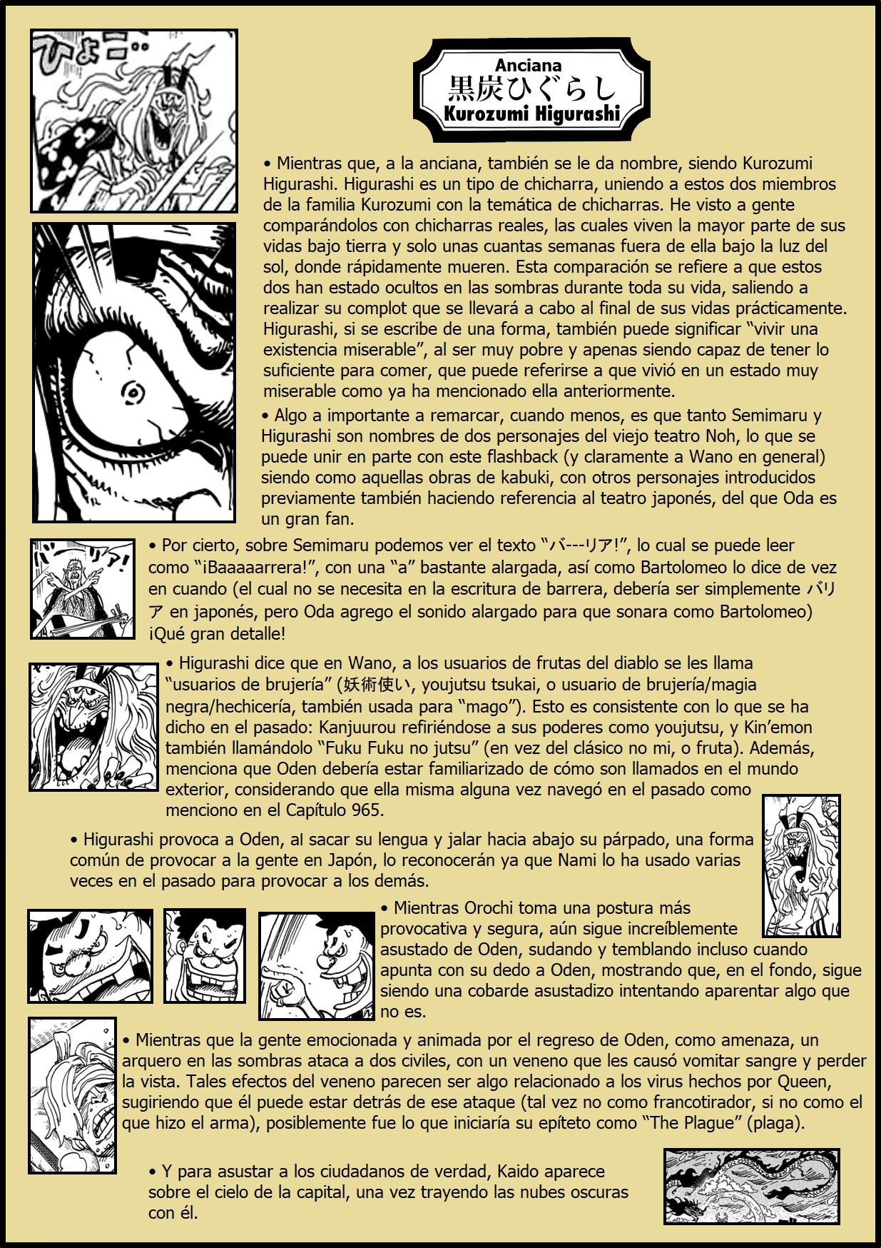 Secretos & Curiosidades - One Piece Manga 969 04
