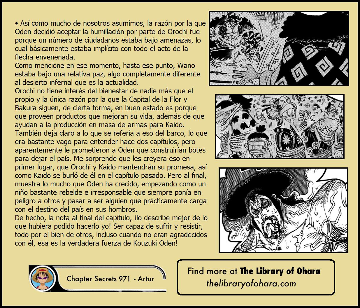 Secretos & Curiosidades - One Piece Manga 971 06