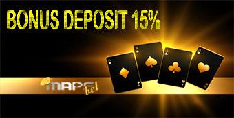 BONUS DEPOSIT 15%