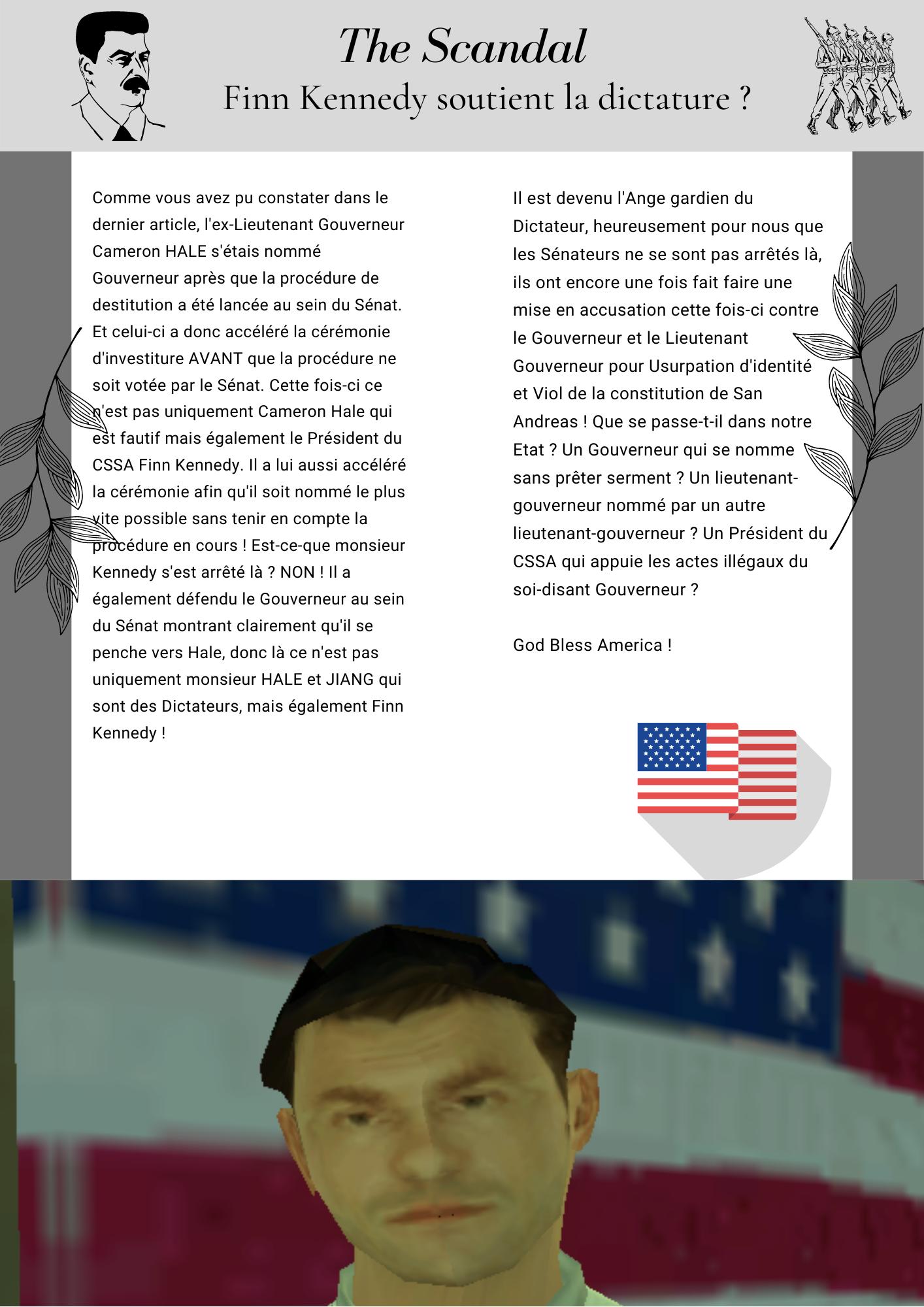 THE SCANDAL - Finn Kennedy soutient la dictature ? The_Scandal