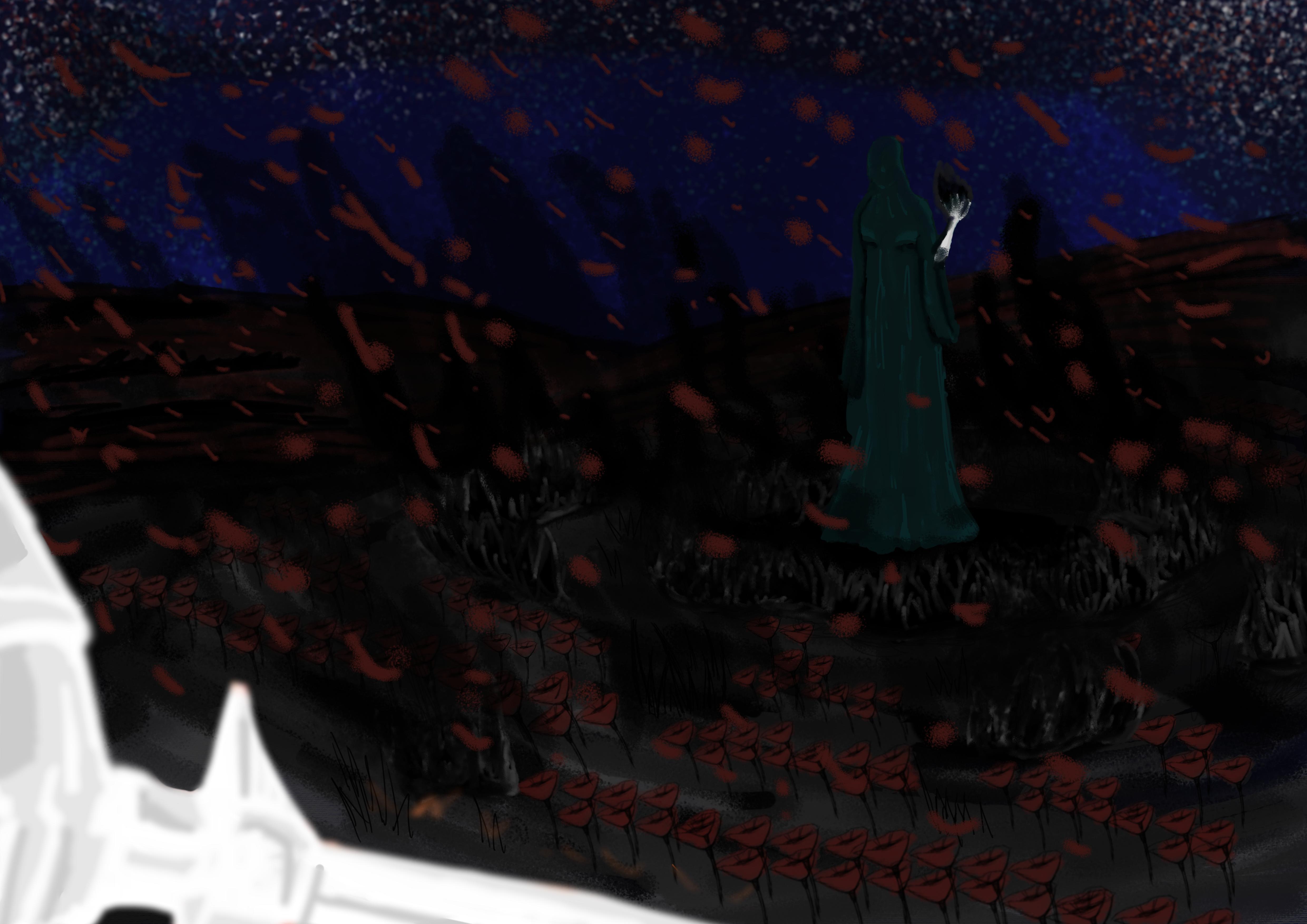 Darkness in the garden