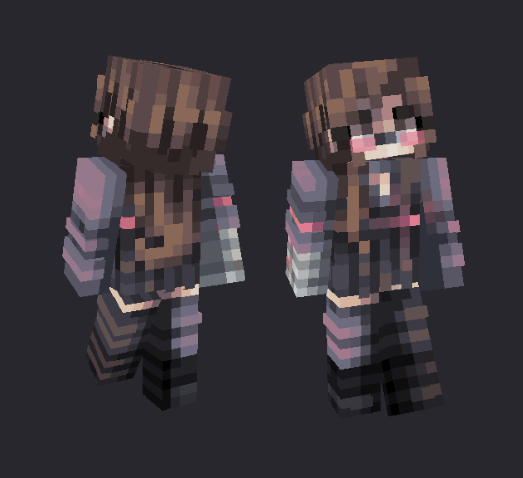 CYBERPUNK ; female ed. #2 Minecraft Skin