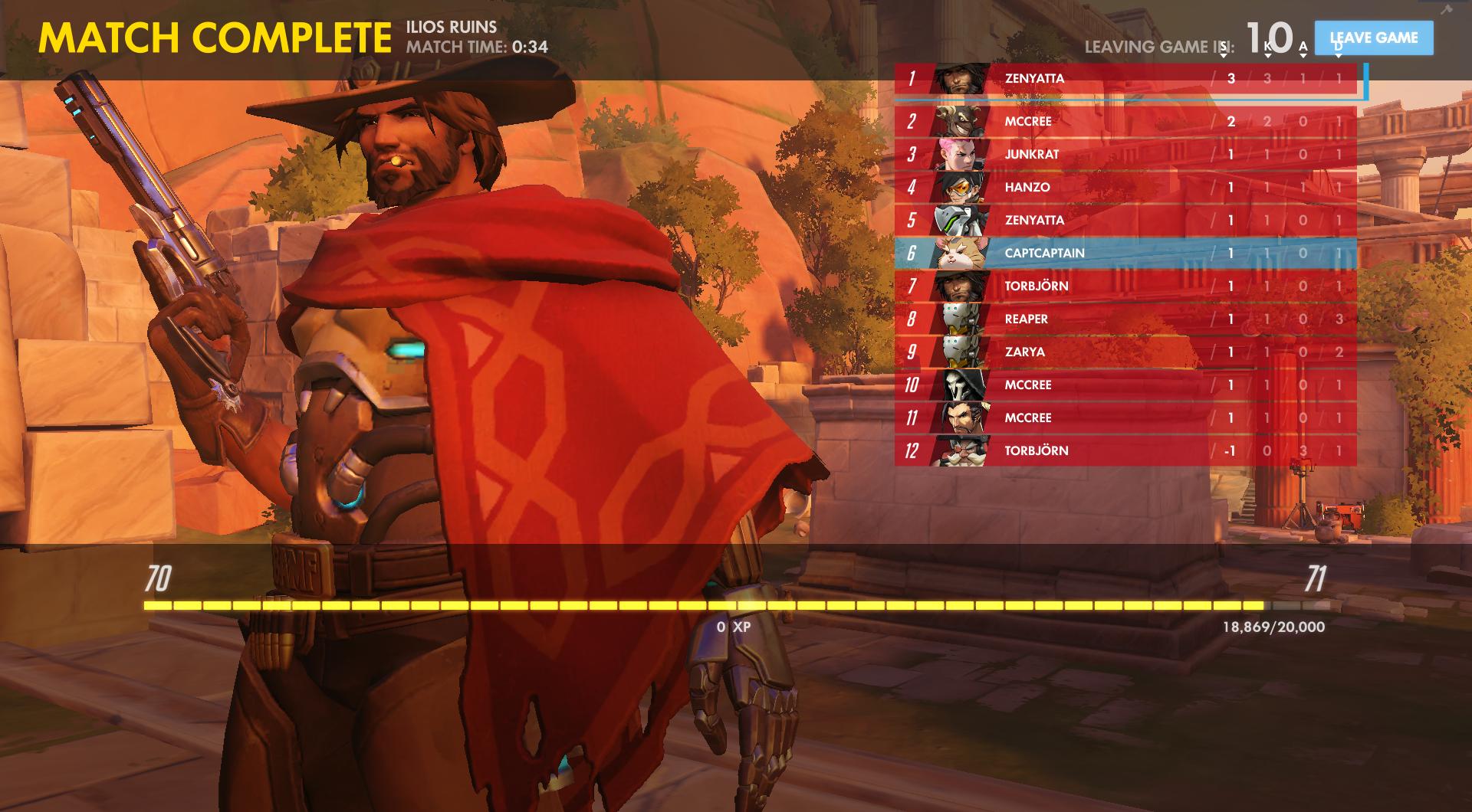 Victory Pose + Scoreboard