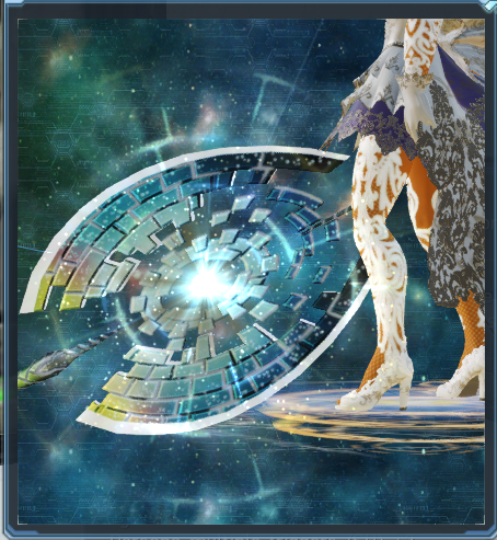 image of labrys the umbral weapon camo in base pso2
