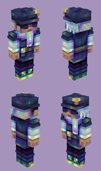 Night Rider (how did the 2d preview make this so dull when it's so vibrant ): ) Minecraft Skin