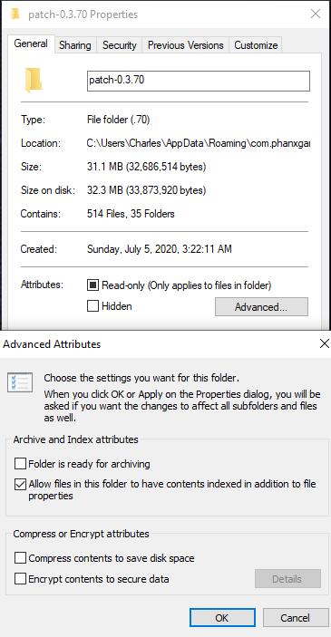 Patch Folder Properties