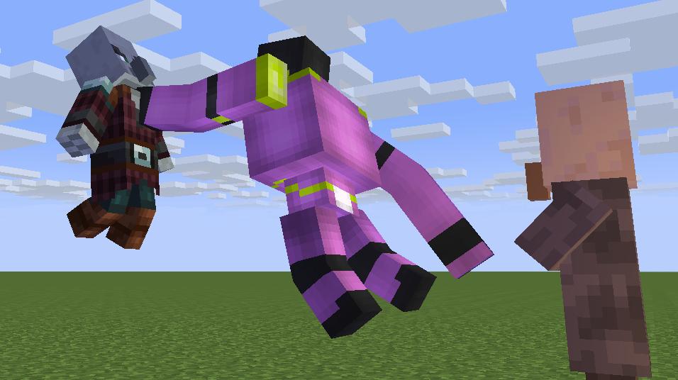 Angry spirit (Star platinum) Minecraft Mob Skin