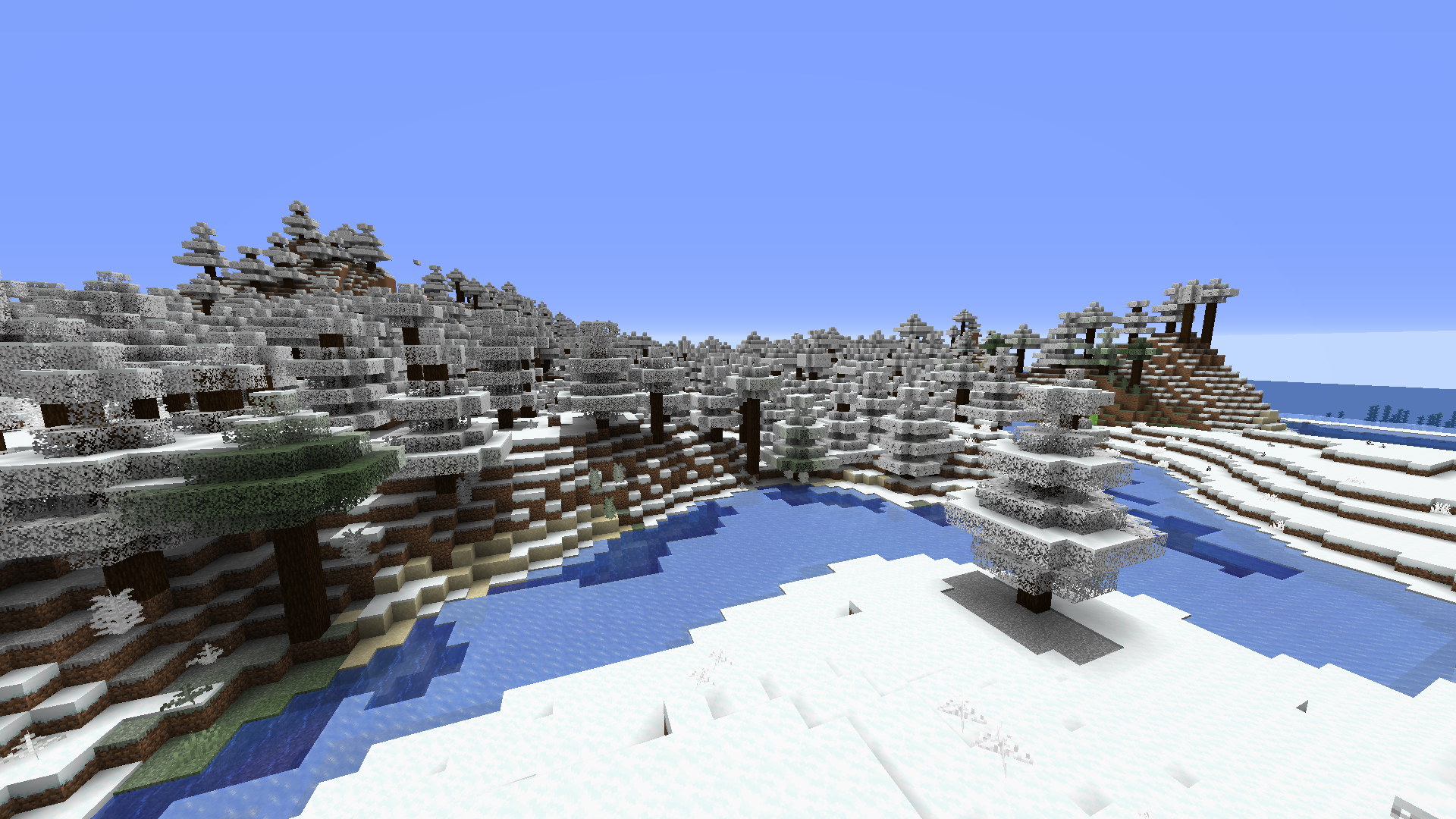 [Optifine] White Leaves and Plants for Snow Biomes For 1.16 and 1.12 Minecraft Texture Pack