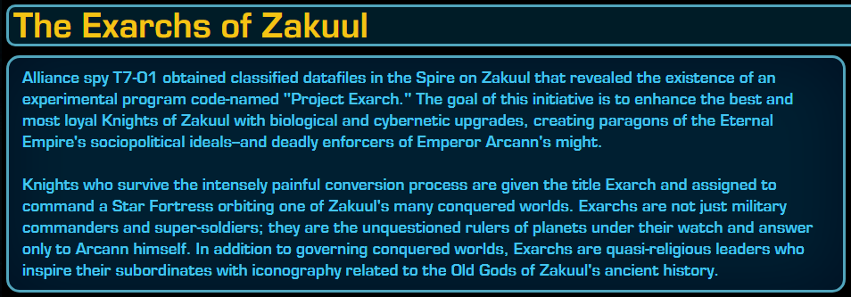 Rank the strongest Zakuul Knights Unknown
