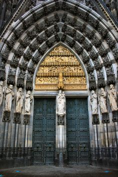massive cathedral doors
