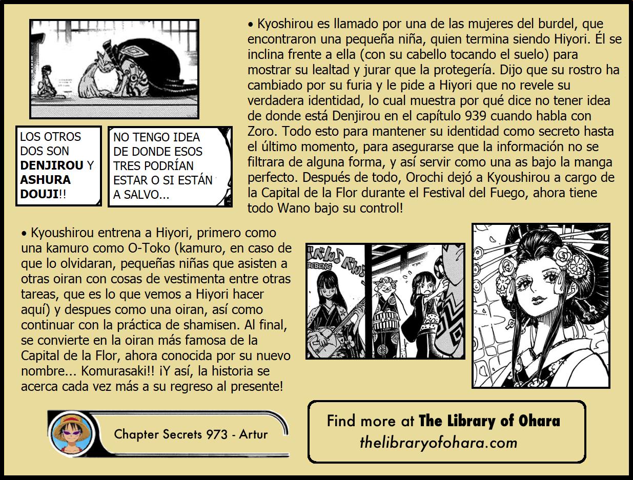 Secretos & Curiosidades - One Piece Manga 973 19