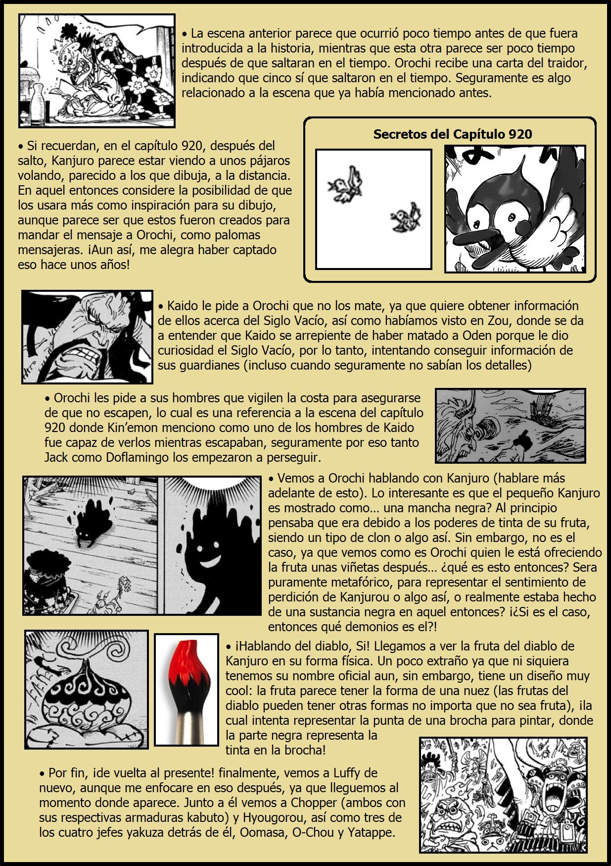 Secretos & Curiosidades - One Piece Manga 974 02