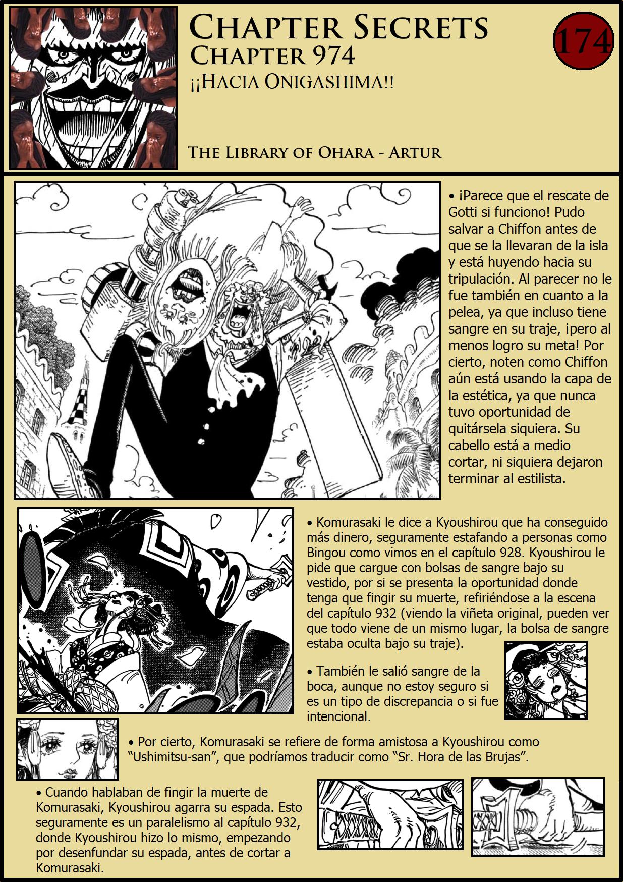Secretos & Curiosidades - One Piece Manga 974 01