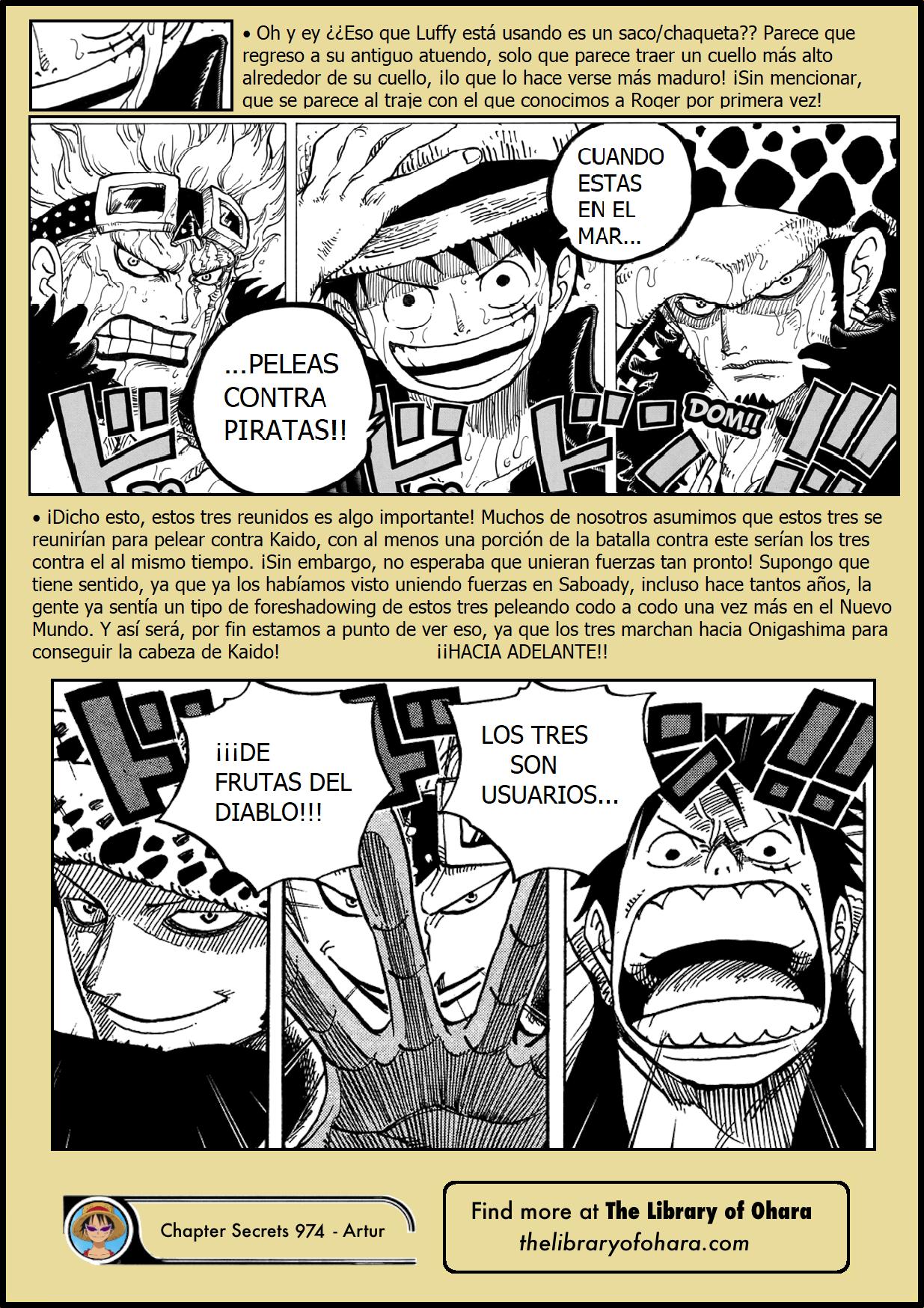 Secretos & Curiosidades - One Piece Manga 974 07