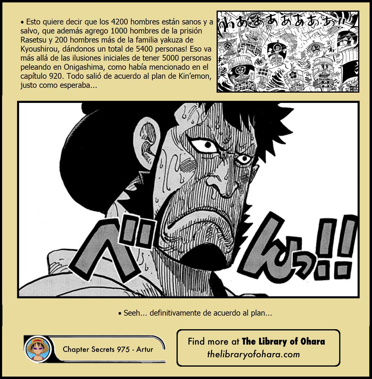 Secretos & Curiosidades - One Piece Manga 975 07