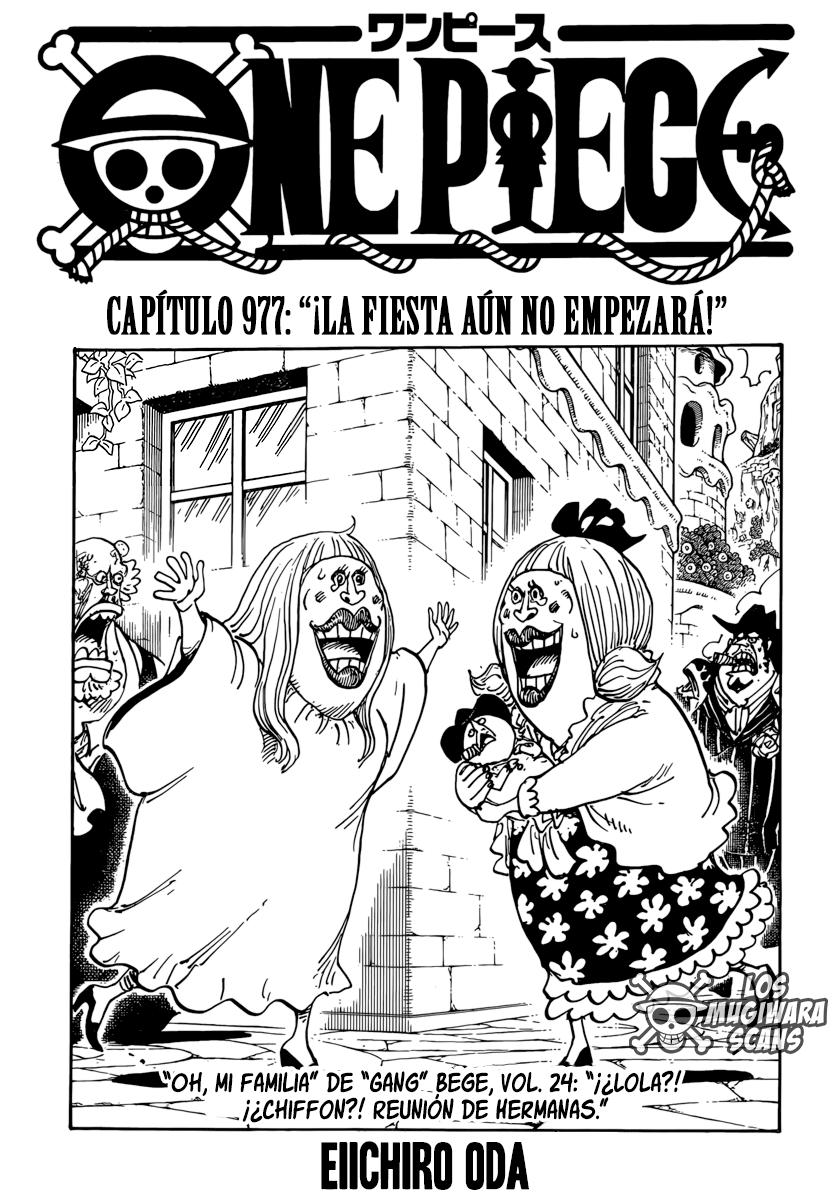 One Piece Manga 977 [Español] [Mugiwara Scans] 01
