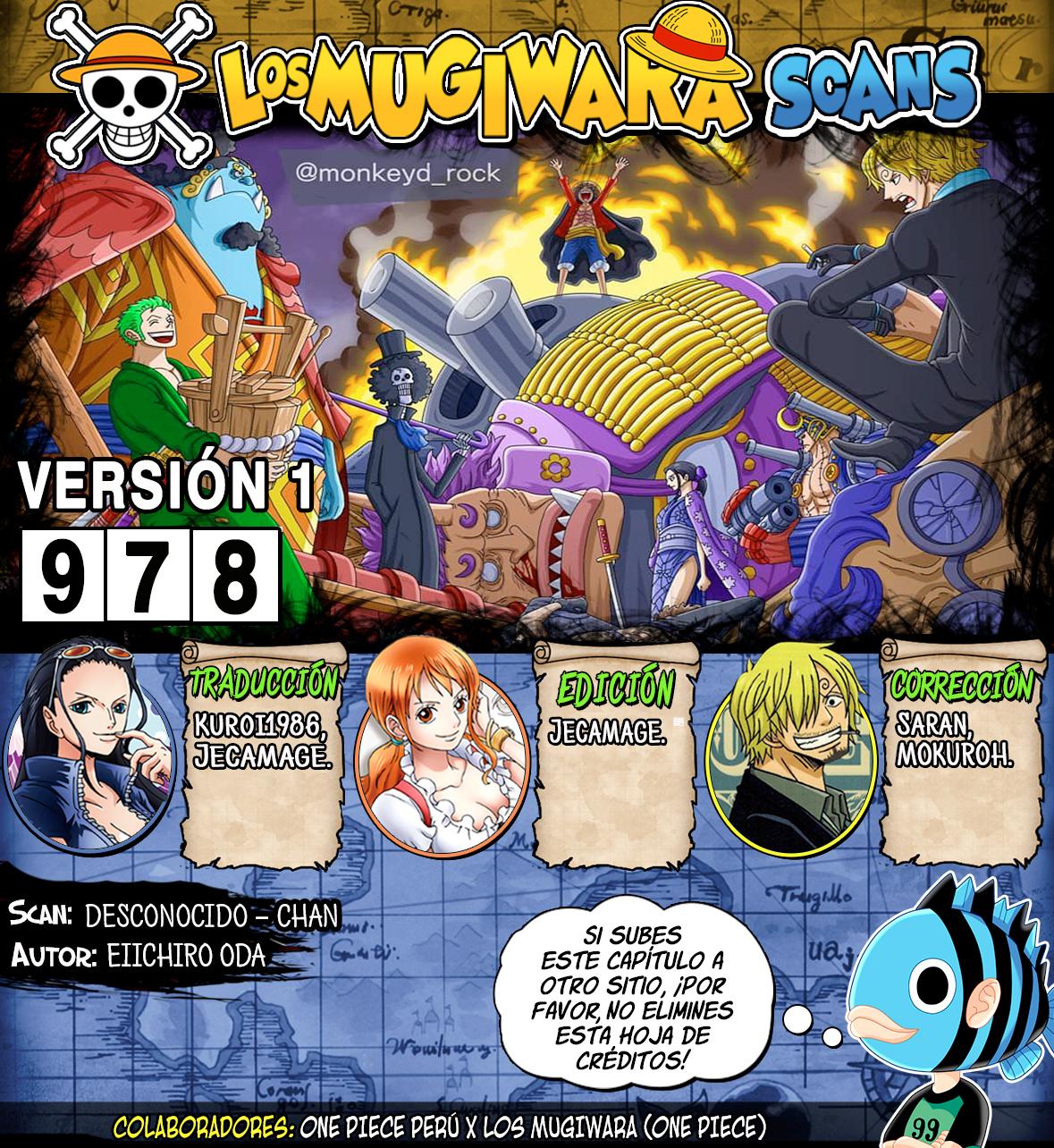 One Piece Manga 978 [Español] [Mugiwara Scans] 00