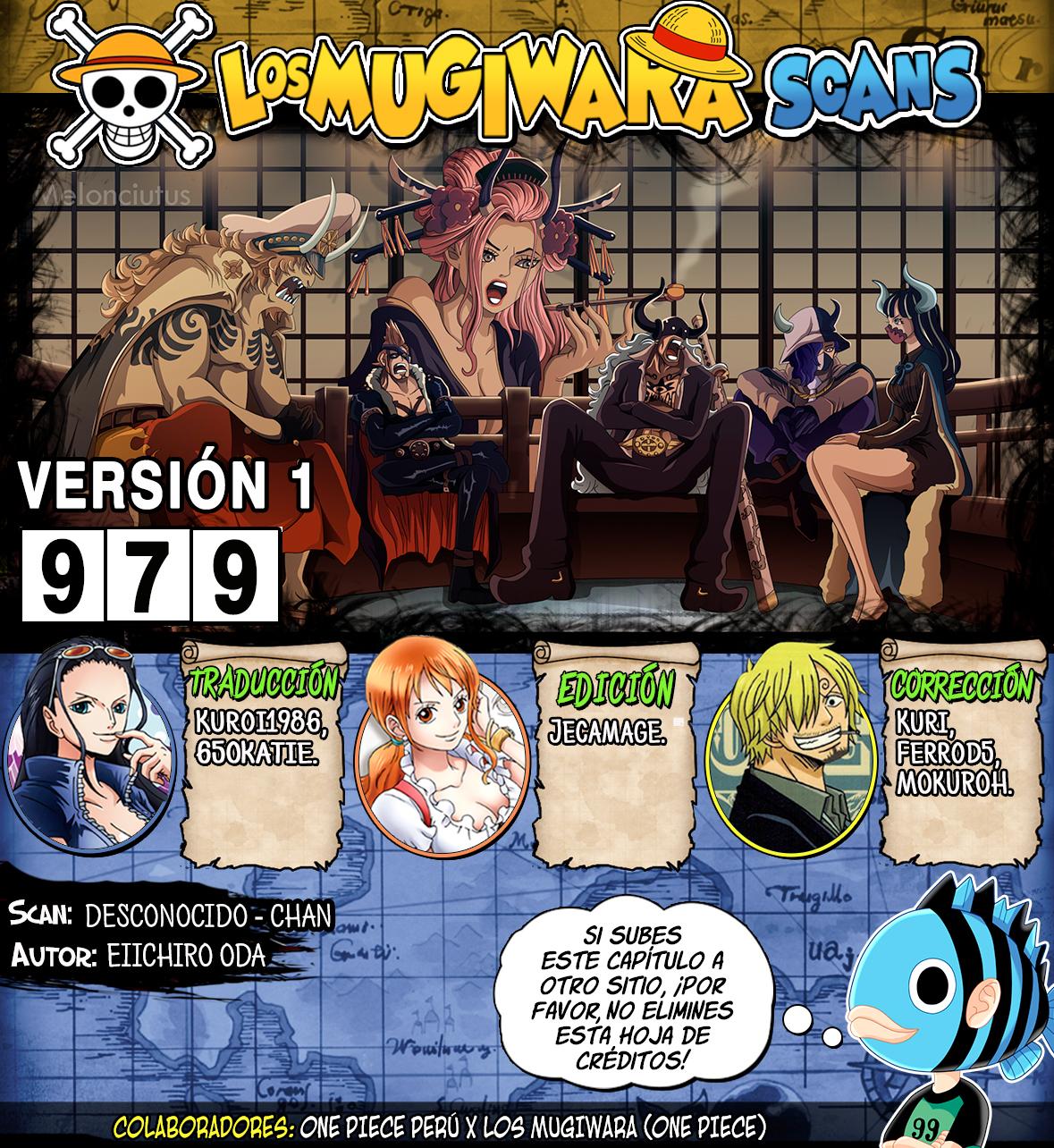 One Piece Manga 979 [Español] [Mugiwara Scans] 00