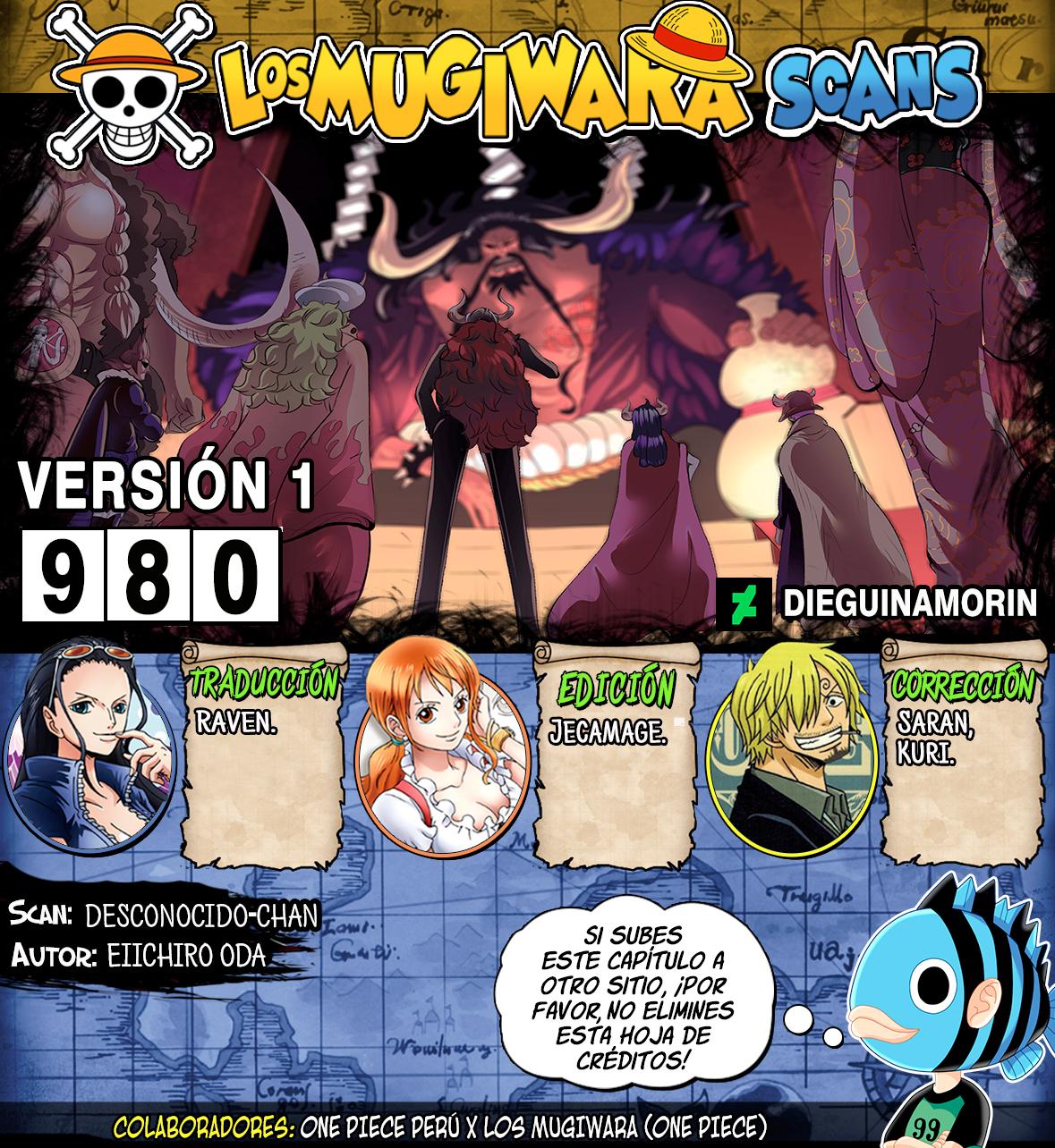 One Piece Manga 980 [Español] [Mugiwara Scans] 00