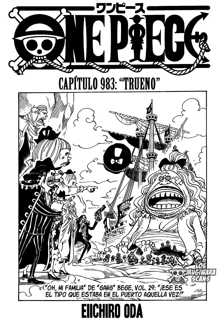 One Piece Manga 983 [Español] [Mugiwara Scans] 01
