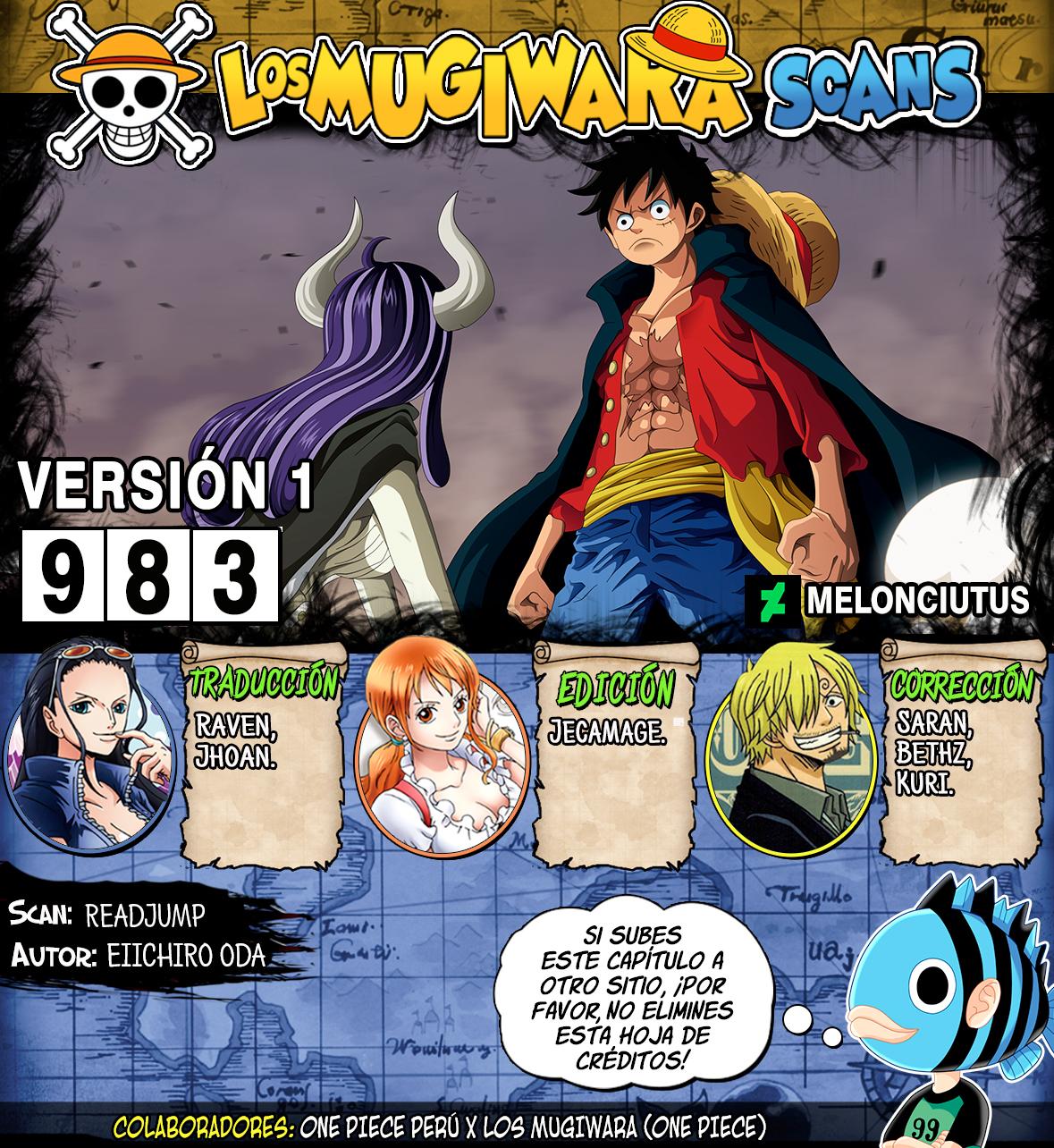 One Piece Manga 983 [Español] [Mugiwara Scans] 00