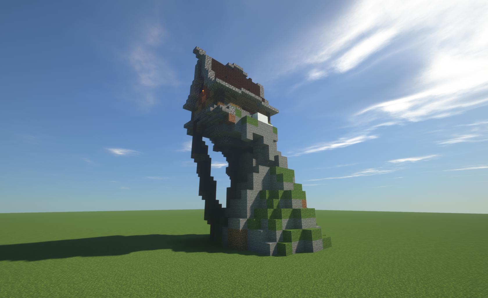 Cliffside Mountain Home Minecraft Map