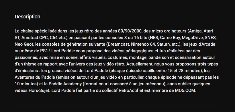★★★ Le Vidéaste à l'Honneur #43 | Lord Paddle | Venez critiquer cette chaîne ! Unknown