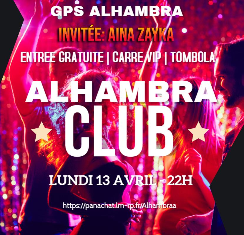 (AFFICHE) Alhambra Club - Soirée du 13/04/2020 AINA