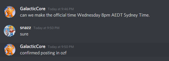 confirmed time